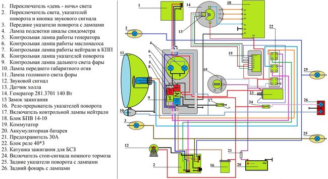 Схема минск 12 вольт 628